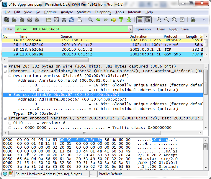 how to filter source ip address in wireshark